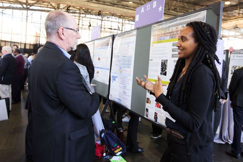 All students from across the university present their research at the annual Research, Innovation and Scholarship Expo (RISE).