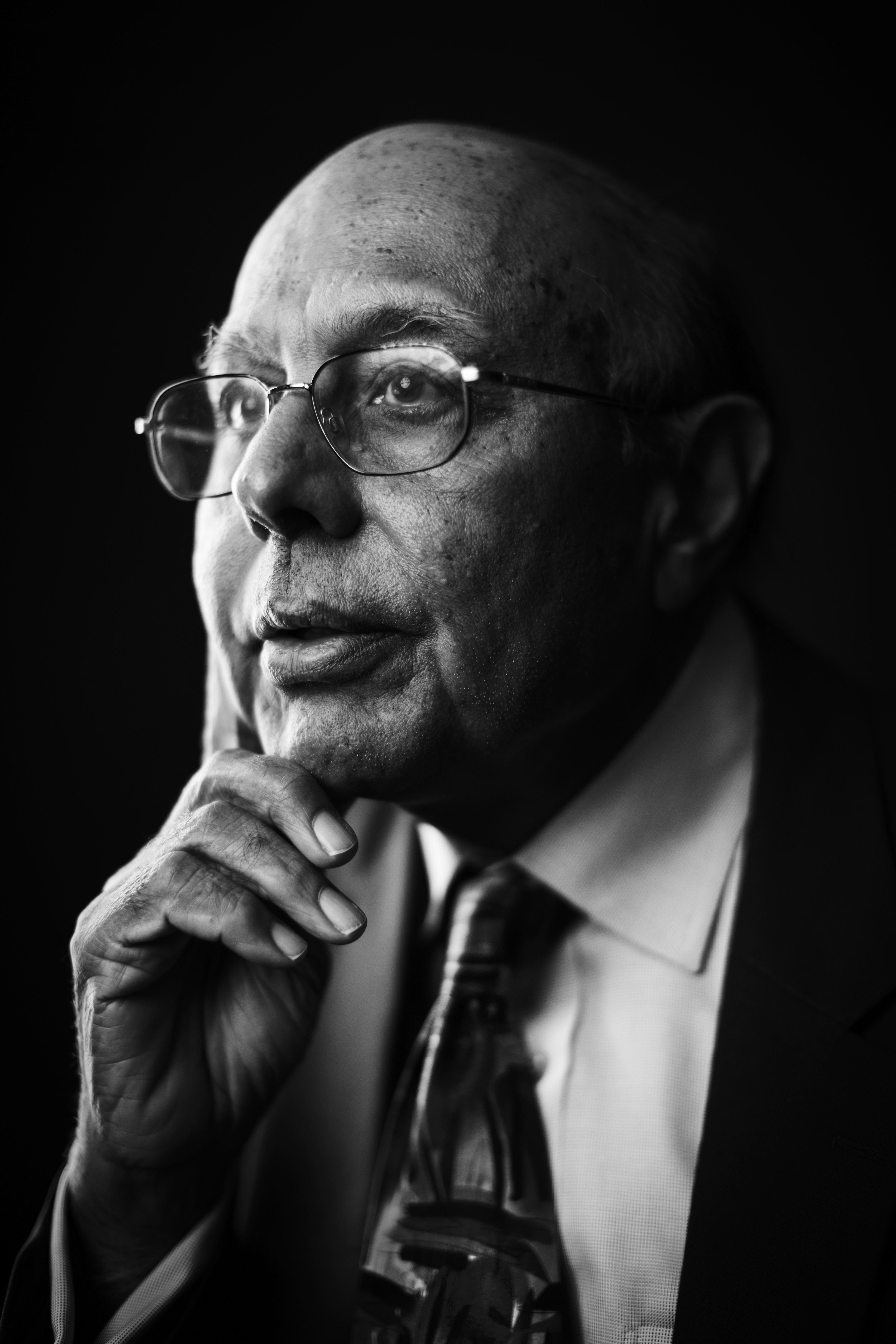 11/03/16 - BOSTON, MA. - Vinod Sahney poses for a portrait on Nov. 3, 2016.  Photo by Adam Glanzman/Northeastern University