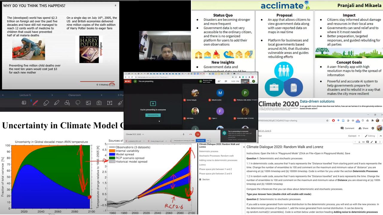 screen shot of virtual class