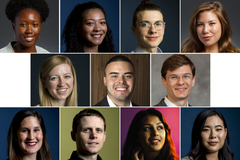 A total of 11 Northeastern students have received Truman and Fulbright Scholarships in 2019. They're serving underrepresented populations, searching for answers to some of the most vexing diseases, and fighting for gender equality. Composite image by News@Northeastern.