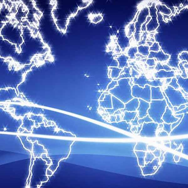 abstract global network image