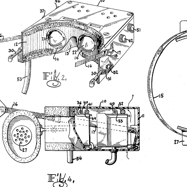 Old drawing of patent image