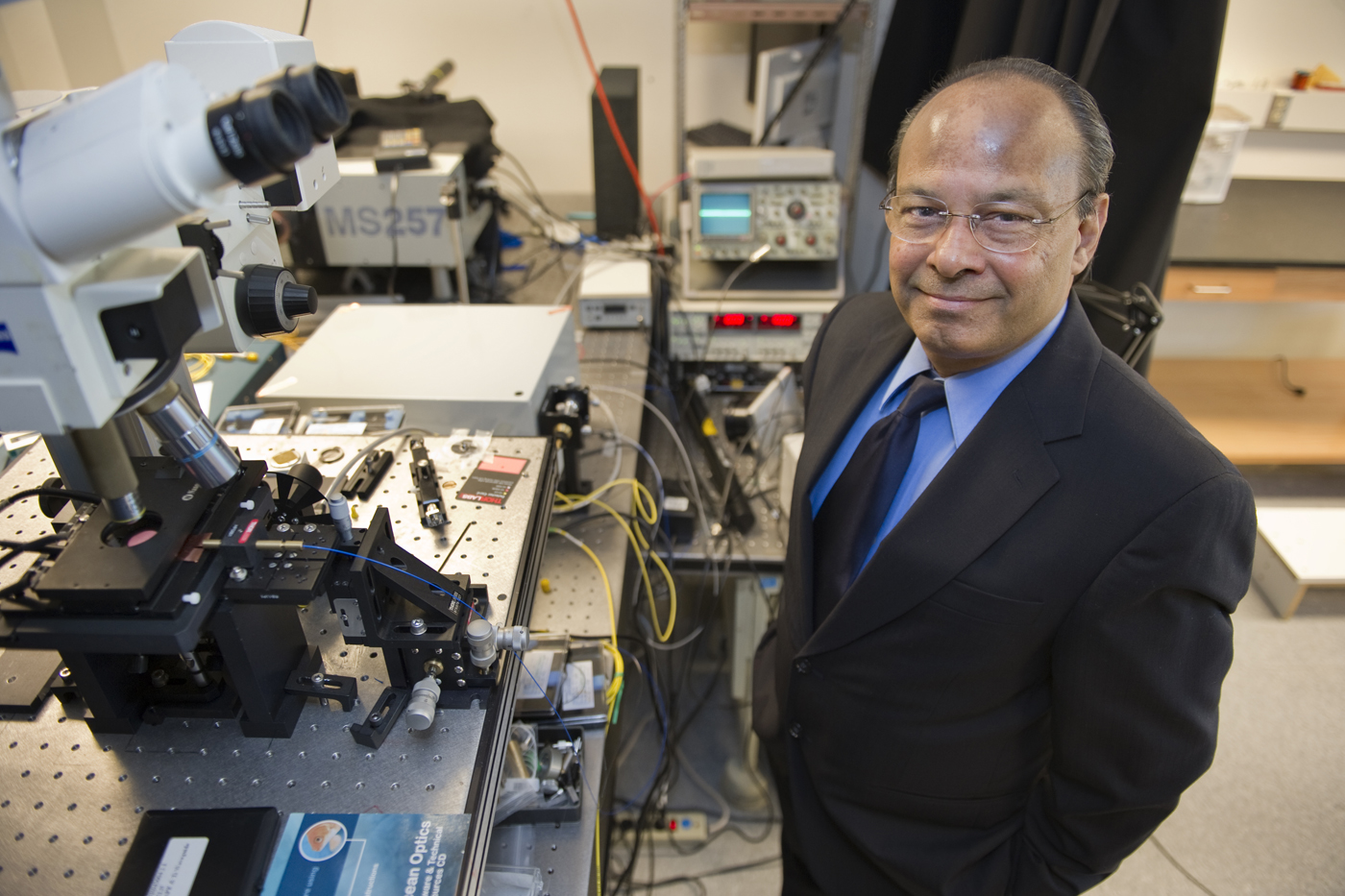 Arts and Sciences Distinguished Professor Srinivas Sridhar, who is in the Department of Physics and is the director of the CaNCURE and IGERT nanomedicine programs. Northeastern University photo