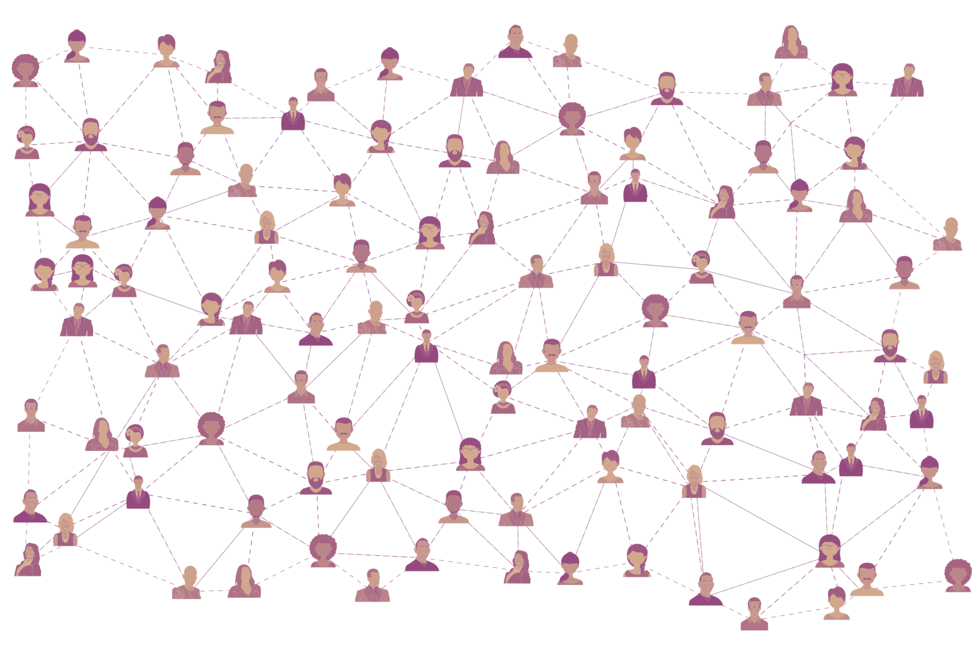 illustration of people in network