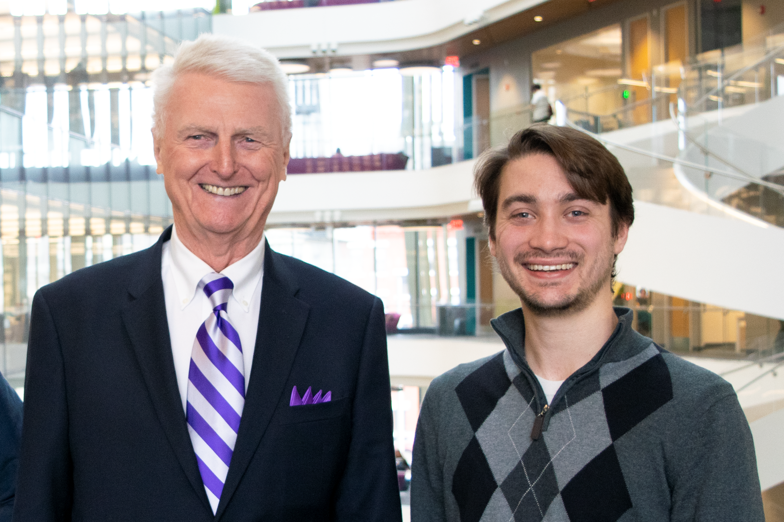 Benjamin Gincley with Dr. Cochrane