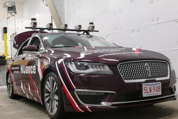 The NUFR Lab's autonomous car.