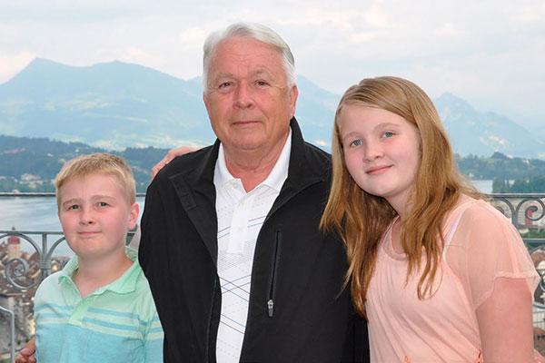 John Nelson and his two grandchildren