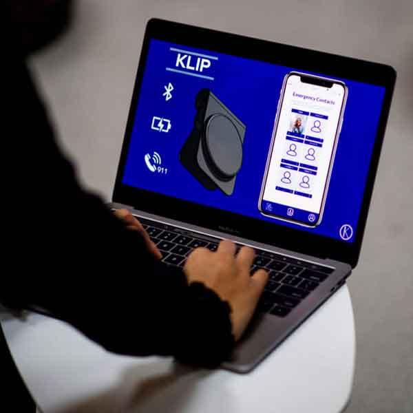 laptop screen view of Klip Tech product