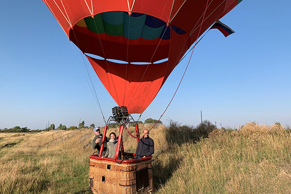 elise papazian in hot air balloon