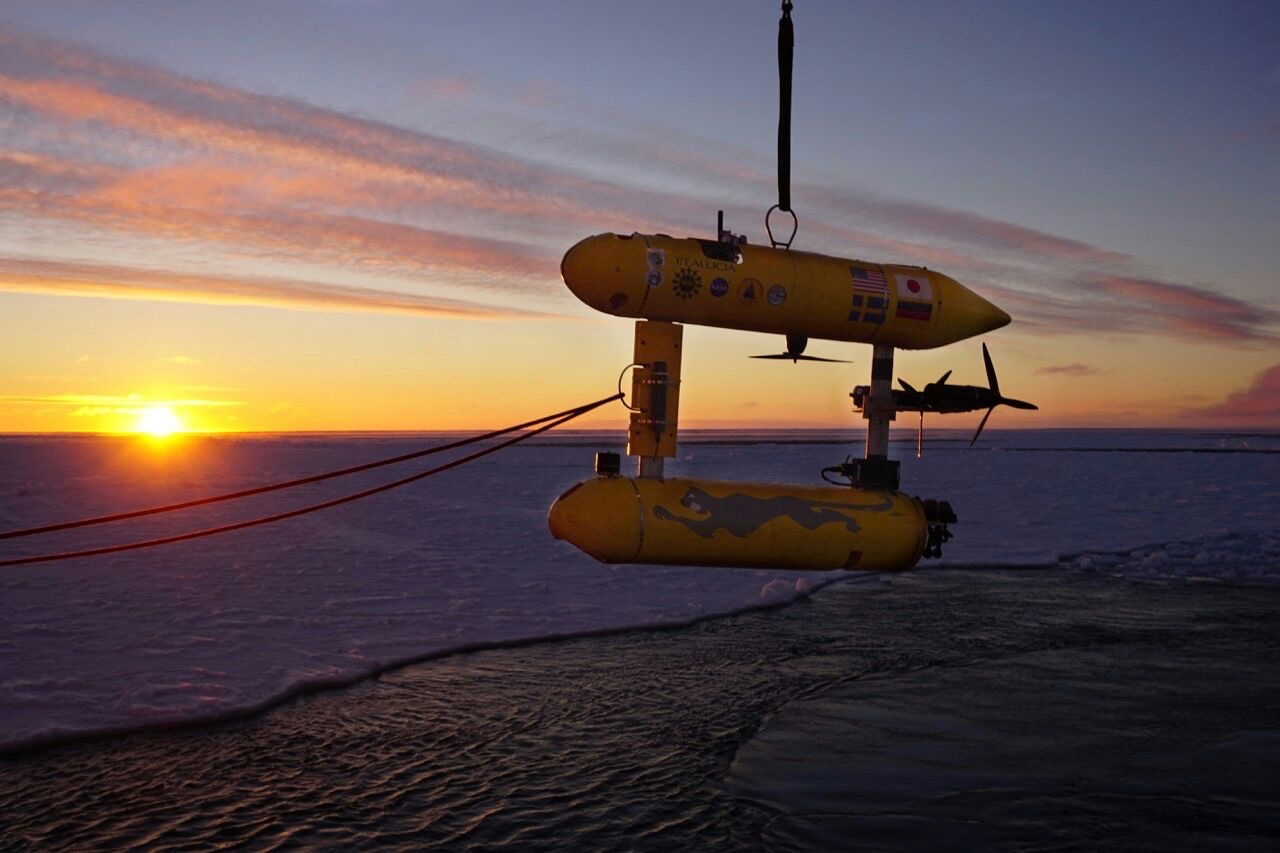 The Jaguar catches a glimpse of the Antarctic sunset.