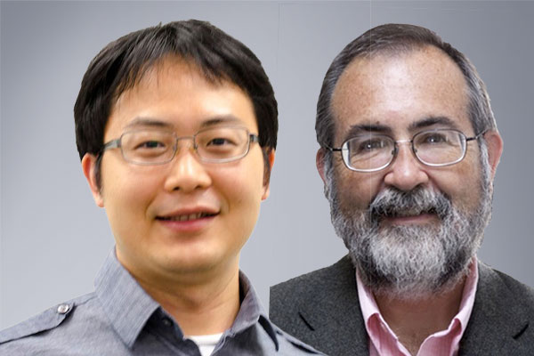 Portraits of Mingyang Lu and Herbert Levine.