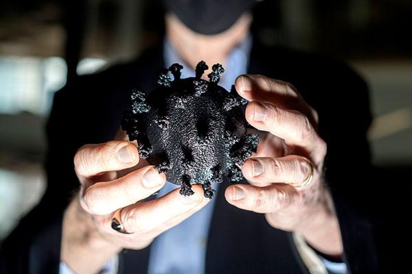 holding model of the COVID virus