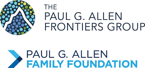 logos of Paul G Allen Frontiers Group and Paul G. Allen Family Foundation