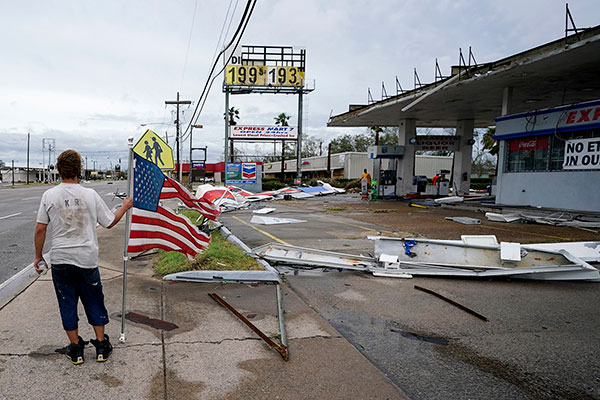 stores in strip mall impacted by hurricane