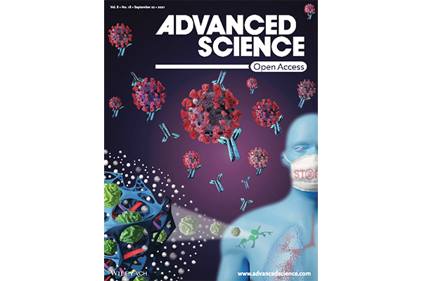 Bencherif research on cover of Advanced Science.