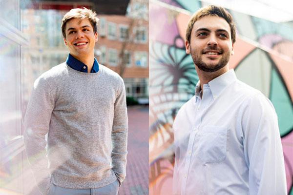 Cameron Young and Spencer Lake Jacobs-Skolik