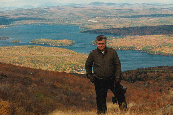 Professor Yaman Yener in Vermont as part of a vacation with his family while traveling by car to Montreal.