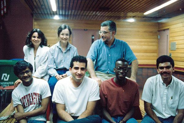 Professor Yaman Yener with his students.