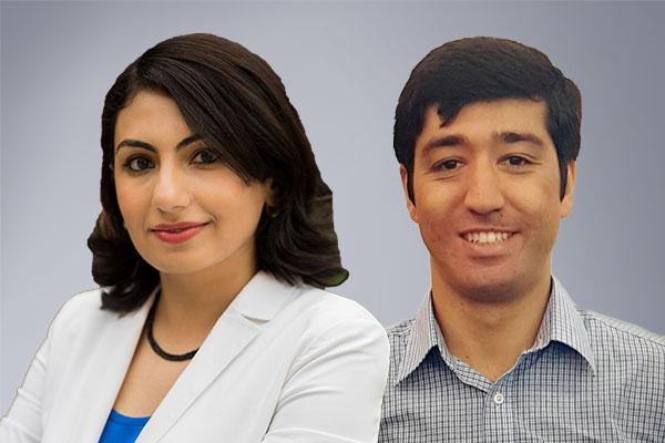 Photo of Sarah Ostadabbas and Alireza Ramezani